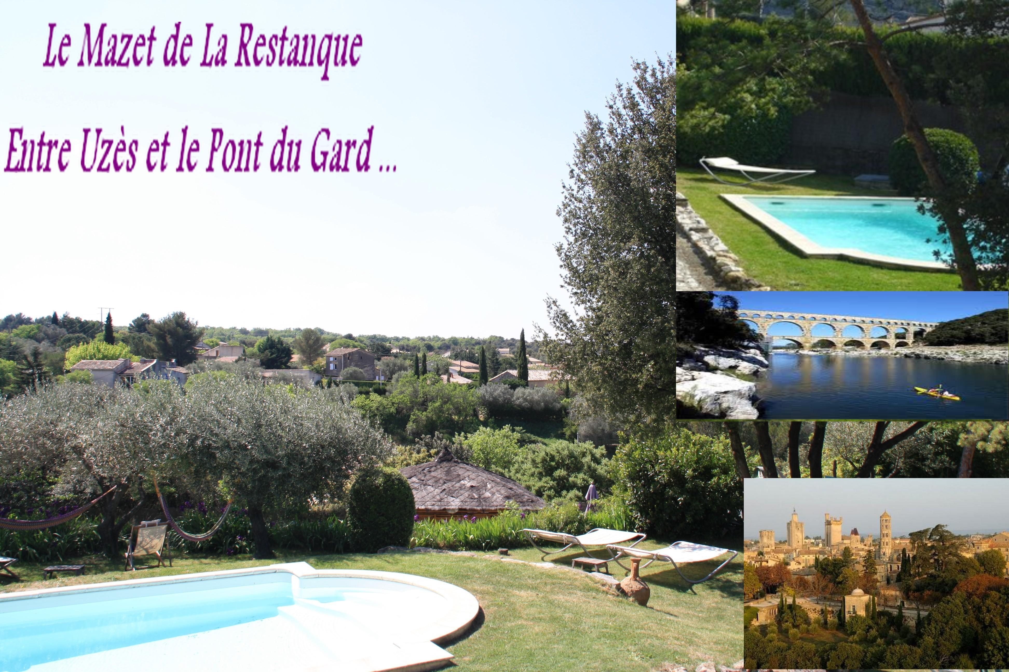 Location de vacances ou week end uz s pont du gard for Camping pont du gard avec piscine